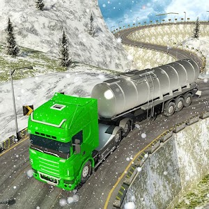 Oil Tanker Transport - Offroad Snow Drive