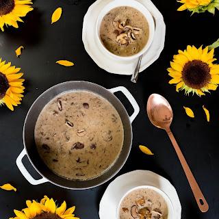 Creamy Mushroom Brie Soup.