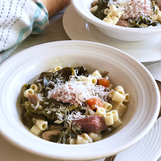 "Spring Veggie ""Kitchen Sink"" Crock Pot Soup."