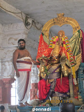 Photo: thiruvanthik kAppu  at the vAhana maNdapam (birth place of emperumAnAr)