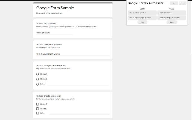 Google Forms Auto Filler