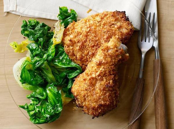 Oven Fried Buttermilk Chicken Drumsticks Recipe
