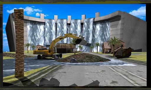 대형 굴삭기 - 홍수 구조