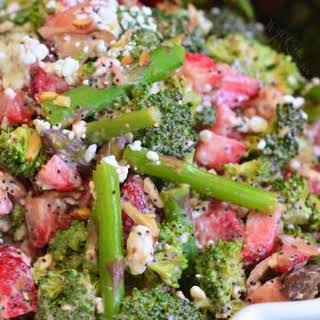 Strawberry Asparagus Broccoli Salad.