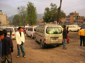 Photo: Bus station in Kathmandu