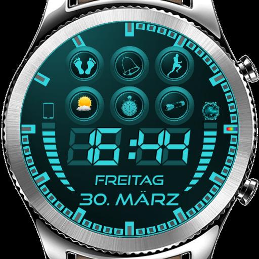 Digital Watch Face for Watchmaker (f.e. Gear S3)