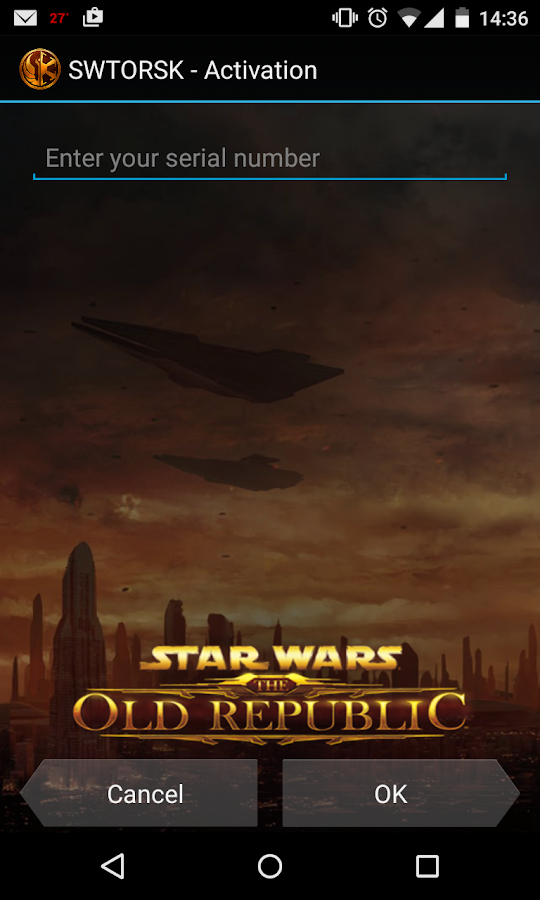The Old Republic™ Security Key- screenshot