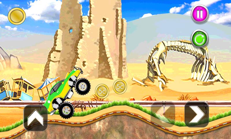 kids cars hill racing games screenshot