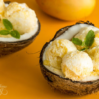 Coconut Mango Ice Cream Recipe