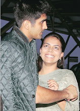 Photo: Archana with Vijender Singh at the Delhi Airport before he left for London Catch detailed Olympics coverage at http://www.indianexpress.com/olympics/