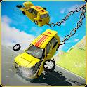 Chained Car Crash Beam Drive: Accident Simulator icon