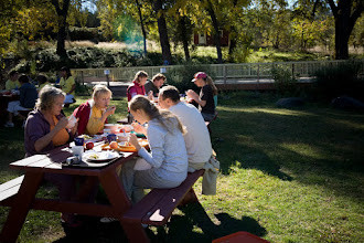 Photo: Yoga Farm, Grass Valley, CA - outdoor dining