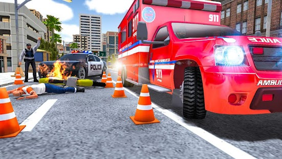 City Ambulance Rescue Simulator Games Screenshot