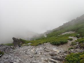 スバリ岳からの下り