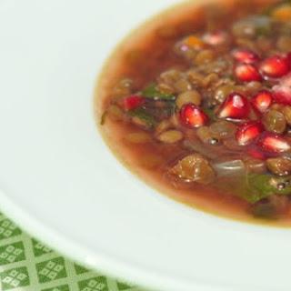 Pomegranate Lentil Soup