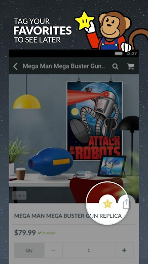Screenshot 2 for ThinkGeek's Android app'