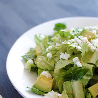 Romaine Heart Salad with Avocado Vinaigrette