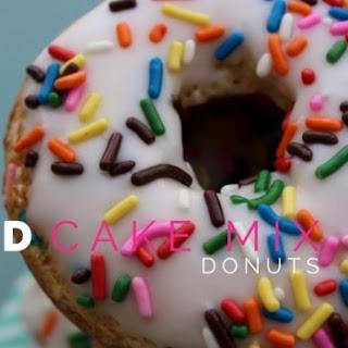 Baked Funfetti Cake Mix Donuts