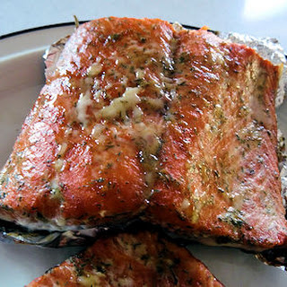 Grilled Dilled Salmon.