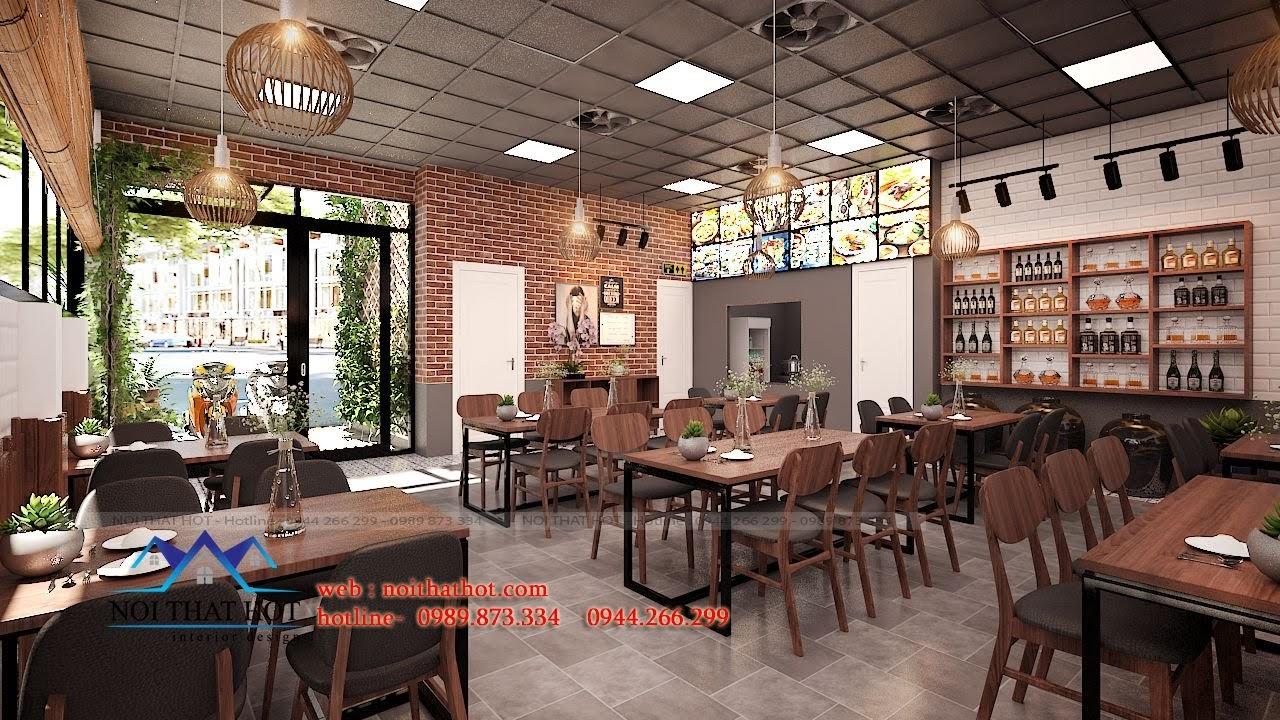 thiết kế nhà hàng ấm cúng