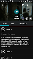 Screenshot of YLE Areena