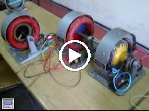 Video: Веза мотора ЈС, синхроног трогазног генератора и асинхроног мотора. Филм 1.