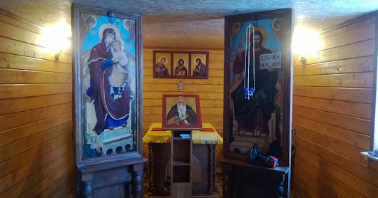 Первая литургия в храме преп. Пимена Великого в братском корпусе