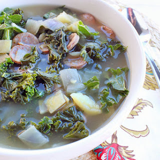 (Simple) Kale & Sausage Soup