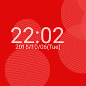 Polka dot clock livewallpaper