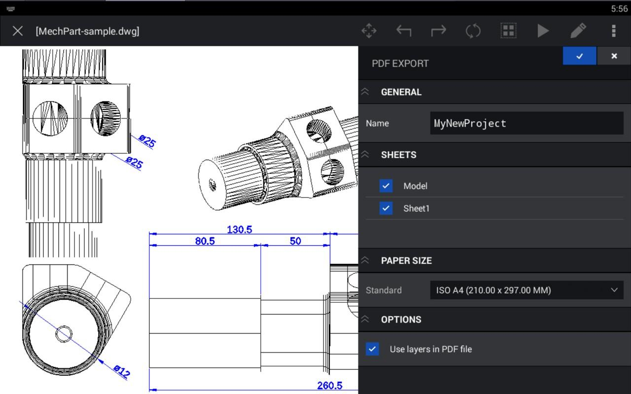 CorelCAD Mobile- screenshot