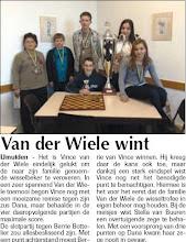 Photo: Van der Wiele wint 22 januari 2009
