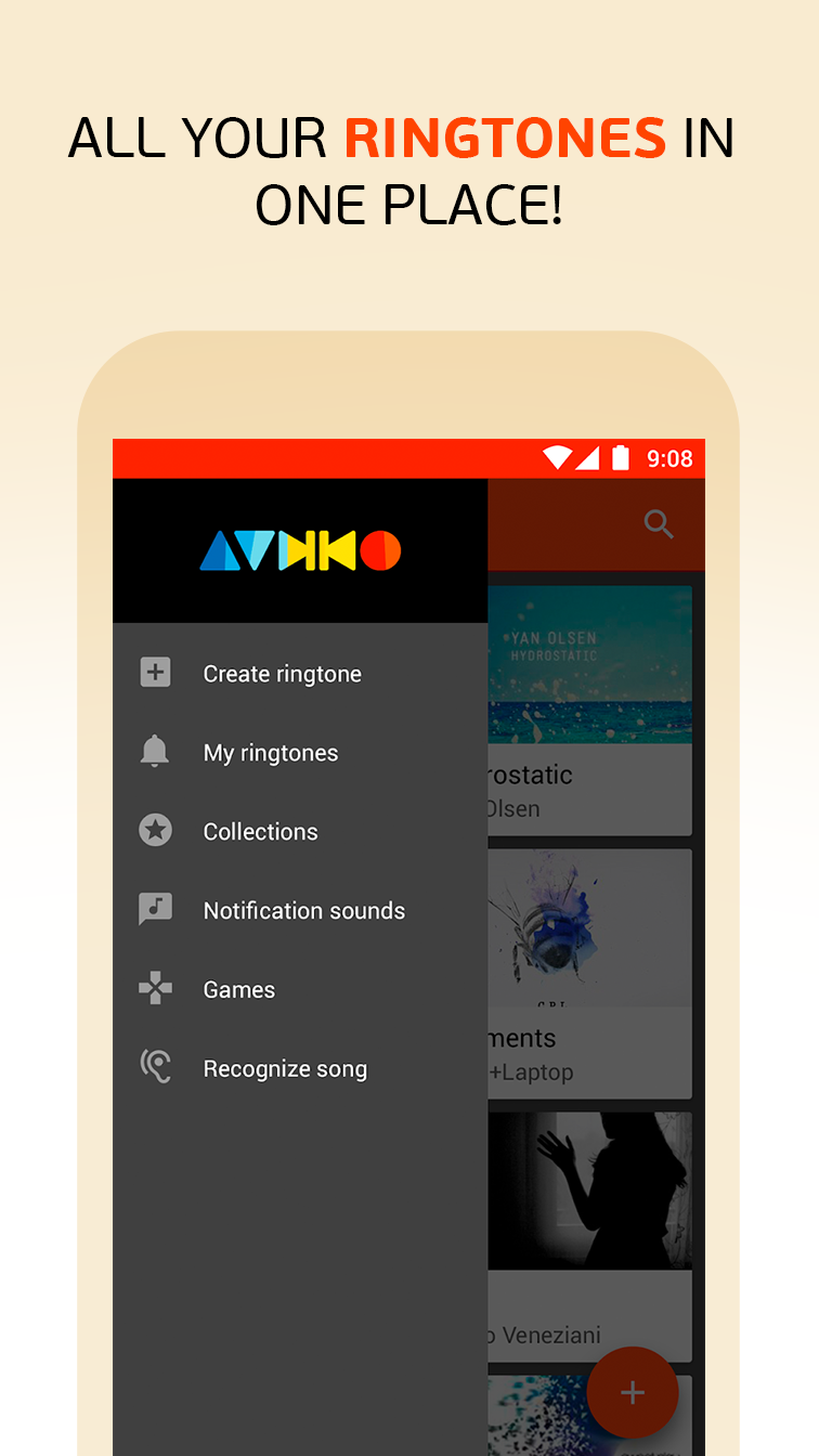 Audiko: ringtones, notifications and alarm sounds. Screenshot 6