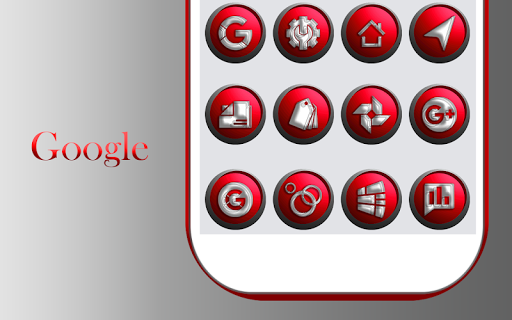 Download Orbic Red Icons Pack MOD APK 9