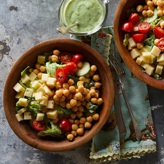 Green Goddess Salad With Chickpeas.