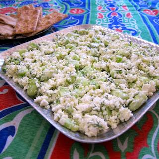 Egyptian Feta Cheese & Green Fava Beans Recipe