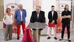 inauguración de  la muestra 'Luces' este martes en el Patio de Luces del Palacio Provincial.