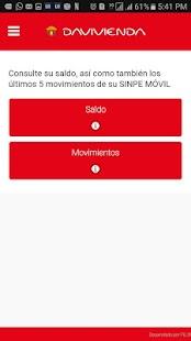 Davivienda Sinpe Móvil - náhled