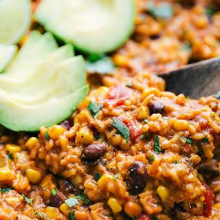 Easy ONE POT Chicken Burrito Bowls Recipe