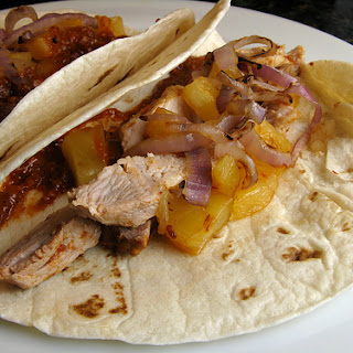 Shortcut Tacos al Pastor with Tomatillo & Chipotle Salsa