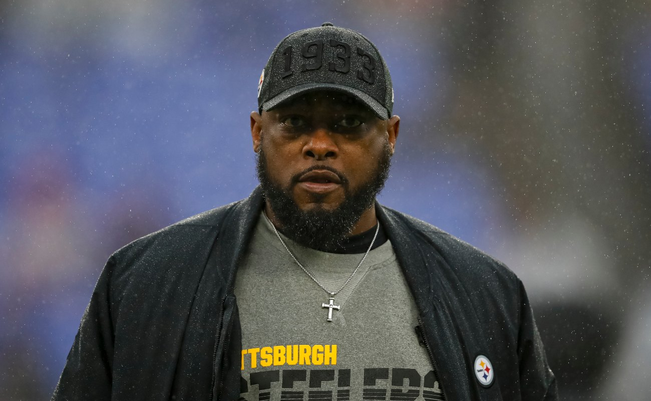 Head coach Mike Tomlin of the Pittsburgh Steelers looks on before the game against the Baltimore Ravens at M&T Bank Stadium on December 29, 2019 in Baltimore, Maryland. (Photo by Scott Taetsch/Getty Images)