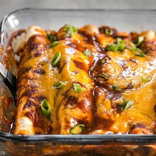 Chorizo and Sweet Potato Enchiladas.