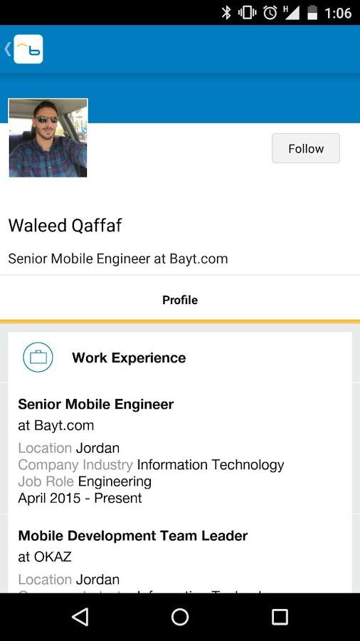 Bayt.com Job Search- screenshot