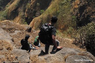 Photo: Descending down Chandragad...Few steps here and there... and then you will gone....