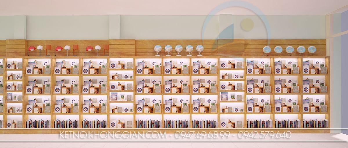 thiết kế nội thất nhà sách ân tượng
