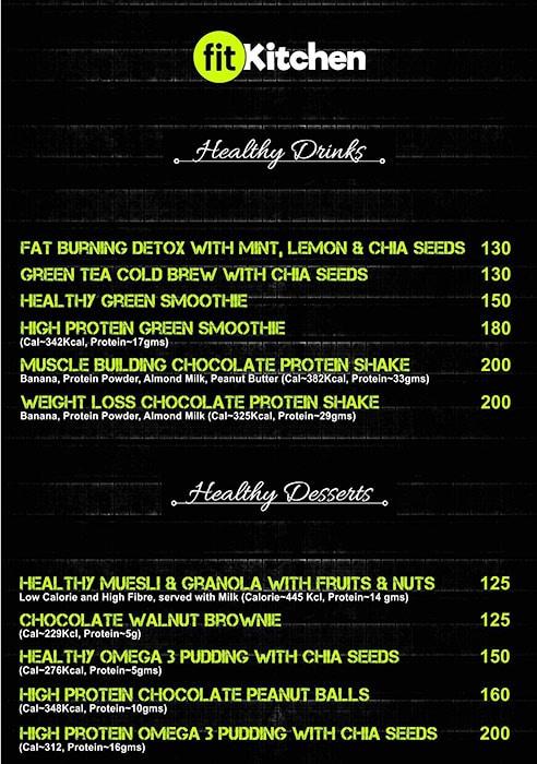 Fit Kitchen India menu 9