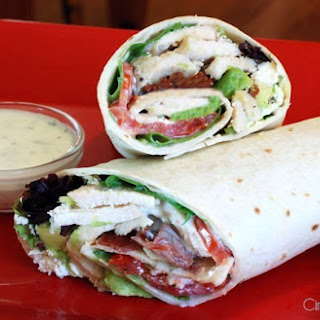 Ranch-y Chicken and Avocado BLT Wrap