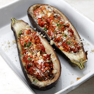 Roasted Stuffed Aubergines