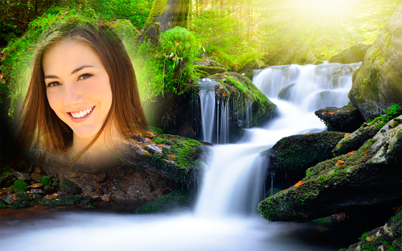Waterfall Photo Frames Apl Android Di Google Play