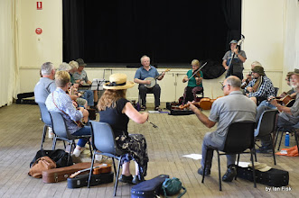 Photo: Rob McCarthy & Friends Old Time Music Jam in the town hall