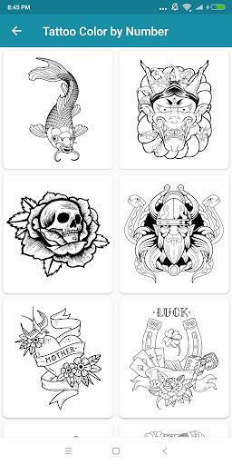 Tattoo Color By Number Coloring Book Pages App Report On Mobile